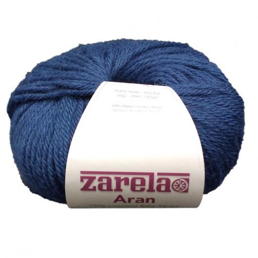 Zarela Aran Super Soft 100% Luxurious Baby Alpaca Yarn - Marine Blue
