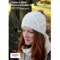 Zarela Chunky Diamond Cable Hat Z002 Adult and Child - Knit in 100% Luxurious Baby Alpaca Downloadable Knitting Pattern