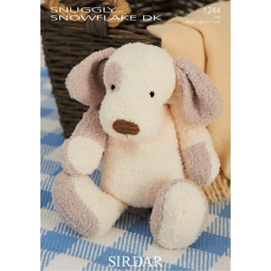 Sirdar Snowflake DK 1244 Patch the Puppy Downloadable Knitting Pattern