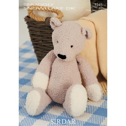 Sirdar Snowflake DK 1245 Ted the Bear Downloadable Knitting Pattern