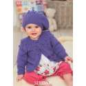 Sirdar Snuggly DK 1267 Cardigan and Beret 0-7years Downloadable Knitting Pattern