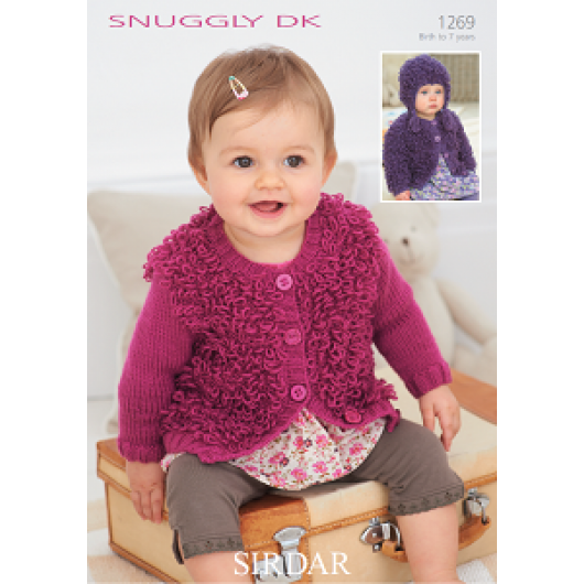 Sirdar Snuggly DK 1269 Jackets and helmet 0-7years Downloadable Knitting Pattern