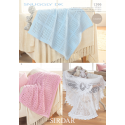 Sirdar Snuggly DK 1299 Blankets and Shawl Downloadable Knitting Pattern