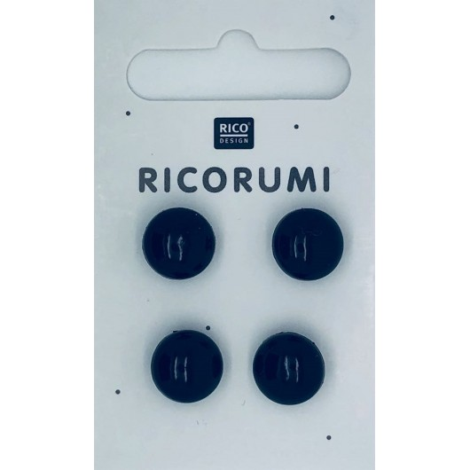Rico Ricorumi Toy Eyes 715 Brown-Black, 8.5mm