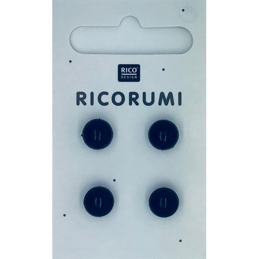 Rico Ricorumi Toy Eyes 714 Brown-Black 11mm