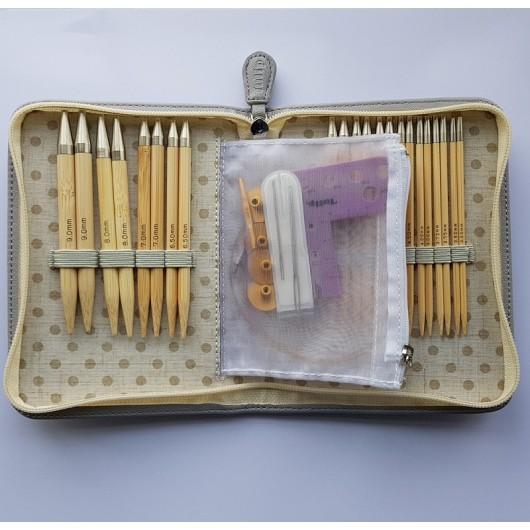 Tulip Carry C ****LONG*****Gift Set Interchangeable Bamboo Circular Needles