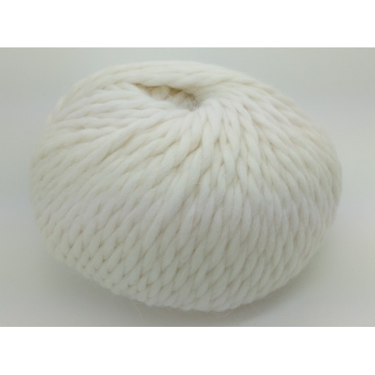Zarela Chunky Super Soft 100% Luxurious Baby Alpaca Yarn - White