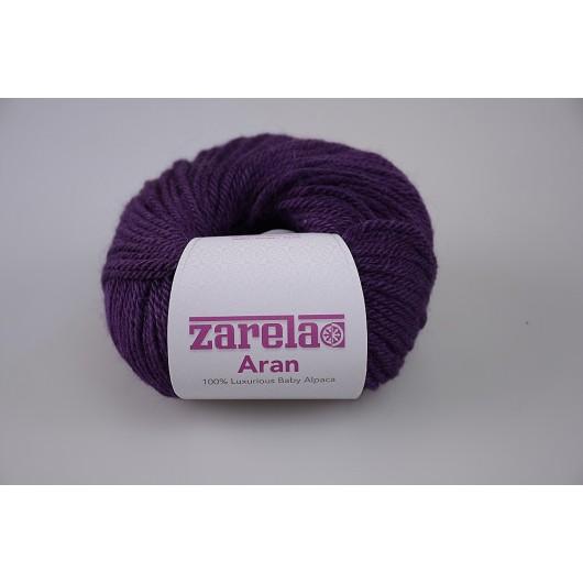 Zarela Aran Super Soft 100% Luxurious Baby Alpaca Yarn - Plum Purple